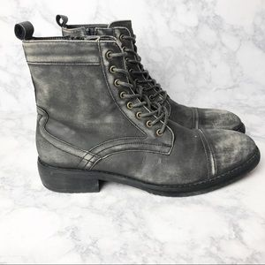 Bar III Blaze Distressed Lace Up Combat Boots